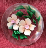 1940s - 1950s Pink Jasmine Flowers Pin -   Lucite Brooch